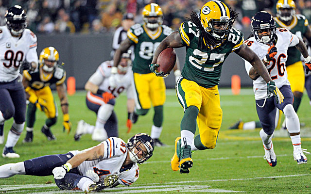Eddie Lacy rushed for 150 yards on 22 carries against the Bears on Monday. (USATSI)