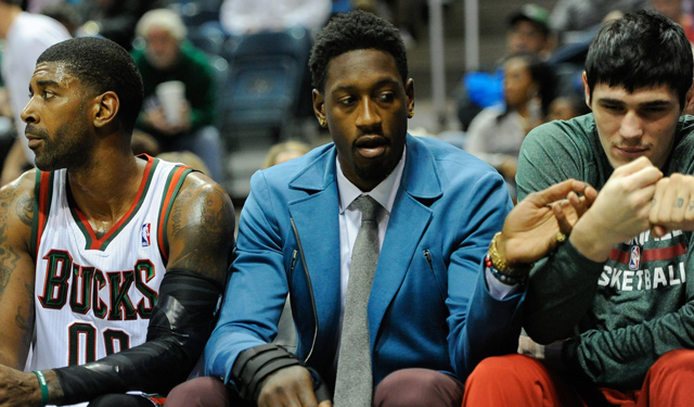 Larry Sanders' (middle) terrible season continues. (USATSI)