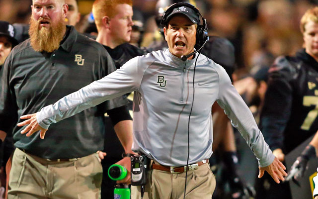 With Texas rumors swirling, Art Briles affirmed his commitment to Baylor on Twitter.  (USATSI)