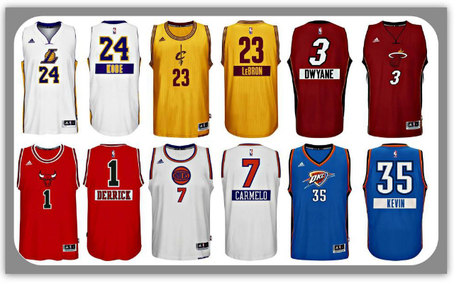 PHOTOS: NBA's Christmas Day jerseys feature first names on ...
