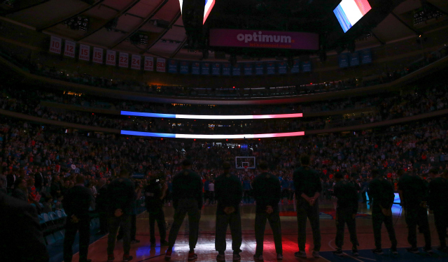 Madison Square Garden has a moment of silence.  (USATSI)