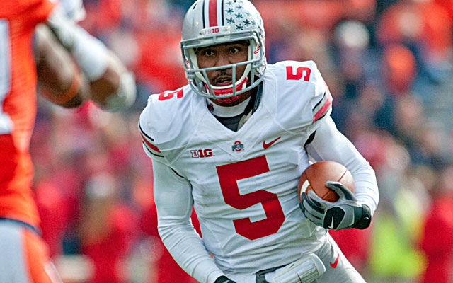 Braxton Miller is 10-0 and his passer rating is up from 140.5 to 165.3. (USATSI)
