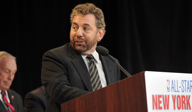 Some Knicks fans are not fans of owner James Dolan.  (USATSI)