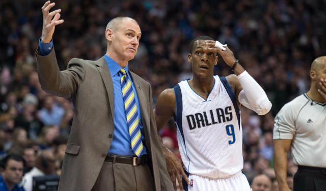 Rick Carlisle and Rajon Rondo are in better places now.  (USATSI)