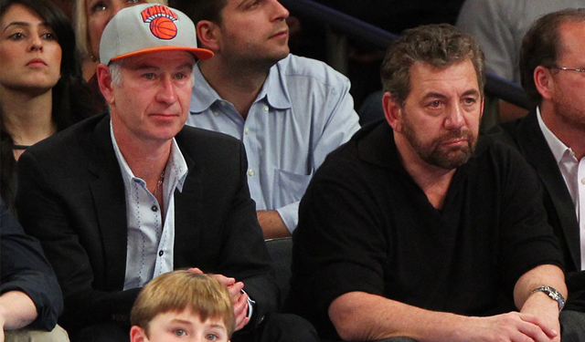 James Dolan is keeping his cool about the Knicks.  (USATSI)