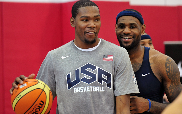 Durant and James are part of 28 players for Team USA to choose from the next three years. (USATSI)