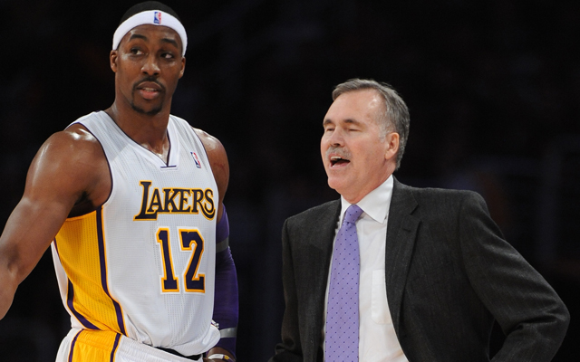 Dwight Howard may not like D'Antoni, but won't ask for him to be fired, reportedly.    (USATSI)