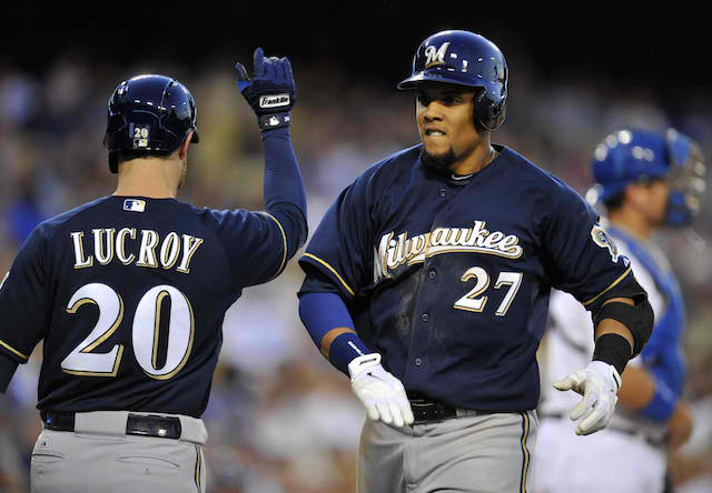 Jonathan Lucroy, Carlos Gomez and the Brewers just keep staying on top. (USATSI)