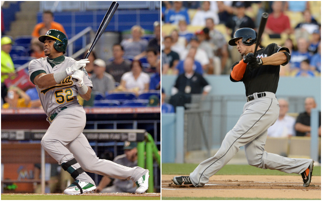What do the numbers say about Yoenis Cespedes, Giancarlo Stanton and the rest of the contestants? (USATSI)