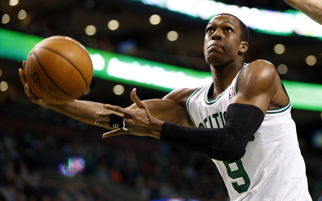 Rajon Rondo is involved in trade rumors but probably won't be moved.  (USATSI)