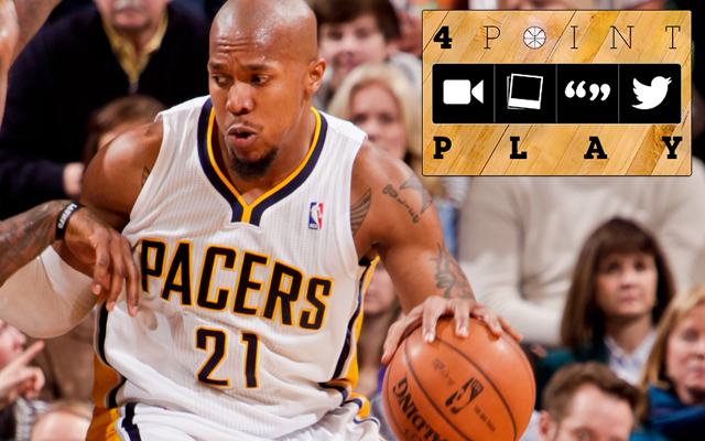 David West is an assassin in the post. (Getty Images)