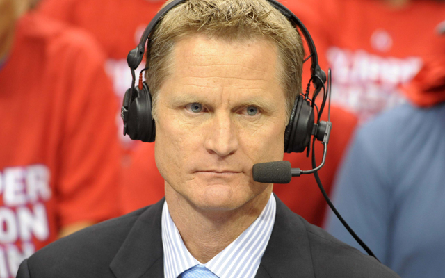 Steve Kerr looked at the Knicks' situation and made a frowny face. (USATSI)
