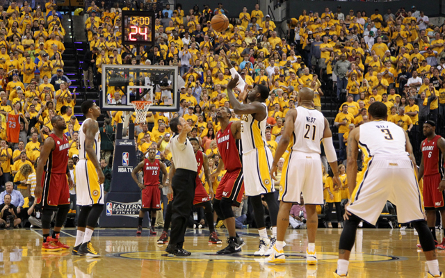 The Heat and Pacers are battling for playoff position.  (USATSI)