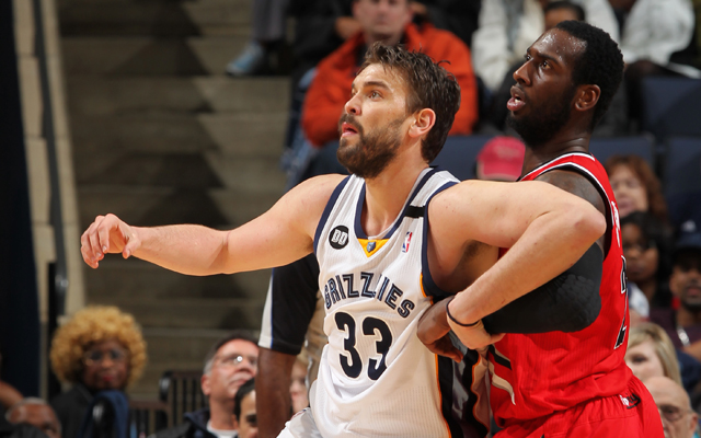 Gasol is one of the few centers in the league able to establish position.  (Getty Images)