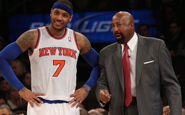 Mike Woodson has kept Carmelo Anthony happy. (USATSI)