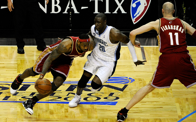 Zydrunas Ilgauskas and LeBron James made several playoff runs together.   (Getty)