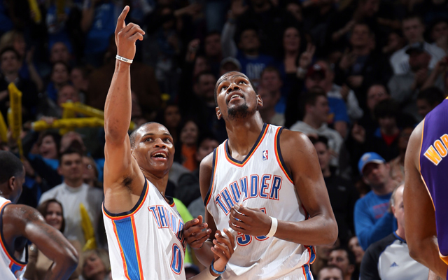 The Thunder can claim No.1 on Monday with a win.    (Getty Images)