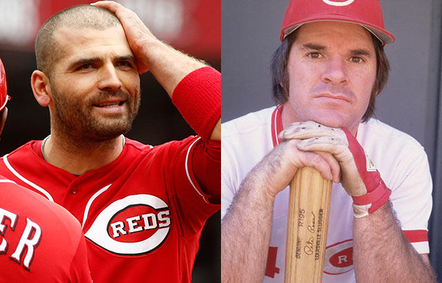 Joey Votto and Pete Rose