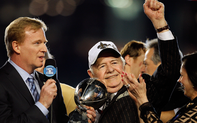 Tom Benson needed oxygen Tuesday at training camp. (USATSI)