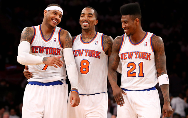 Knickstape having fun! (USATSI)