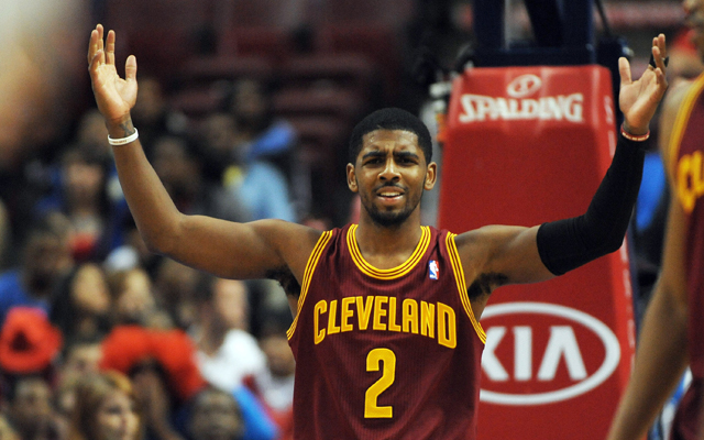 'Guys, that's two years from now!' Irving seems to say.  (USATSI)