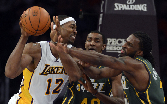 The Jazz and Lakers wrestle for a playoff spot on the last night of the season.   (USATSI)