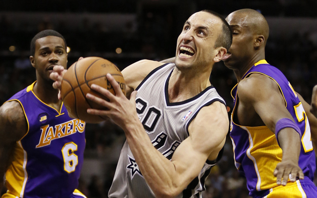 If Manu can't be stopped, the Lakers can't be winners. (USATSI)