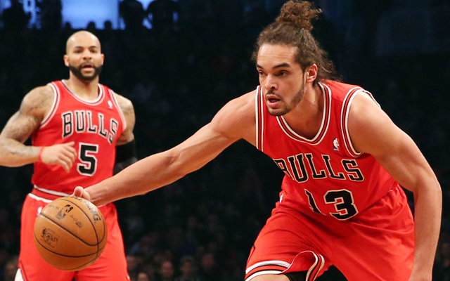 Joakim Noah won't play in the Bulls' first preseason game. (USATSI)