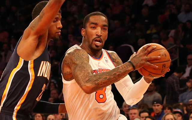 J.R. Smith reportedly had swelling in his knee in the playoffs.    (Nike)