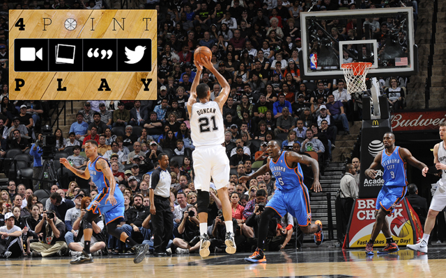 The Spurs have relied on jumpers vs. OKC.     (Getty Images)