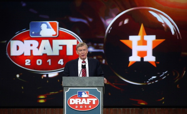 Bud Selig called Brady Aiken's name for the Astros, but the two sides failed to reach an agreement. (Getty)