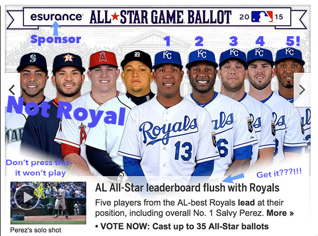 uk availability 0b807 c9ec0 Royals dominate first AL results for 2015 All-Star ballot ...