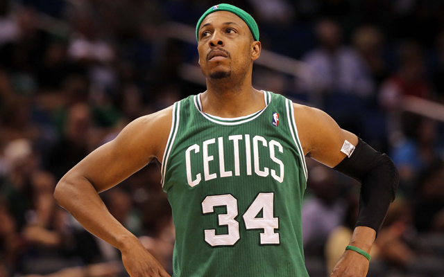 Paul Pierce might not be wearing green next season.  (Getty Images)