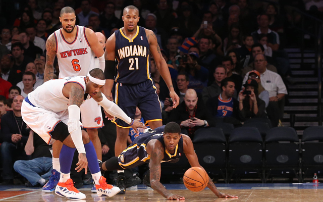 The Pacers have been first to the ball vs. the Knicks in this series.   (USATSI)