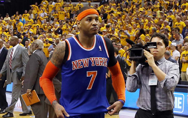 Carmelo Anthony once again fails to make the Finals.   (USATSI)