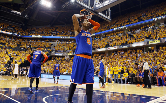 The Knicks were frustrated Saturday night.   (USATSI)