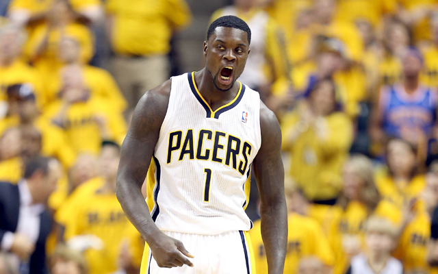 Lance Stephenson has stepped up for the Pacers in the playoffs.   (Getty Images)