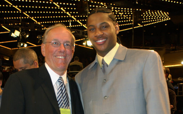 Boeheim defended his former player, Carmelo Anthony.   (Getty Images)