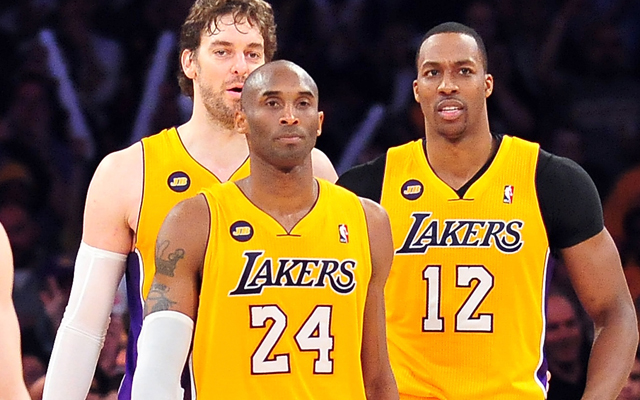 Howard, Gasol, Kobe.   (Getty Images)