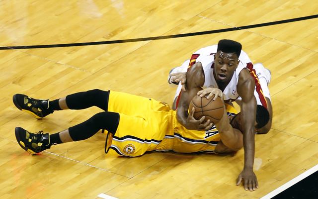 The Pacers pulled Miami into a wrestling match in Game 1.    (USATSI)