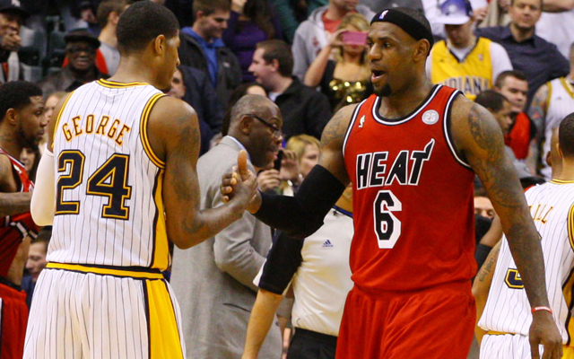 LeBron James and Paul George will fight for the upper hand. (USATSI)