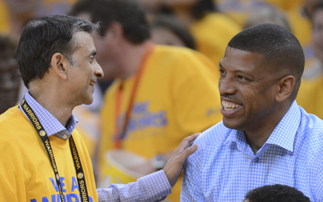 Vivek Ranadive and Kevin Johnson have four year to save the Kings.   (USATSI)