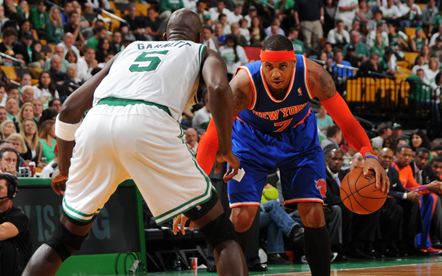 As an old rivalry is reborn, Melo's Knicks take this round.  (Getty Images)