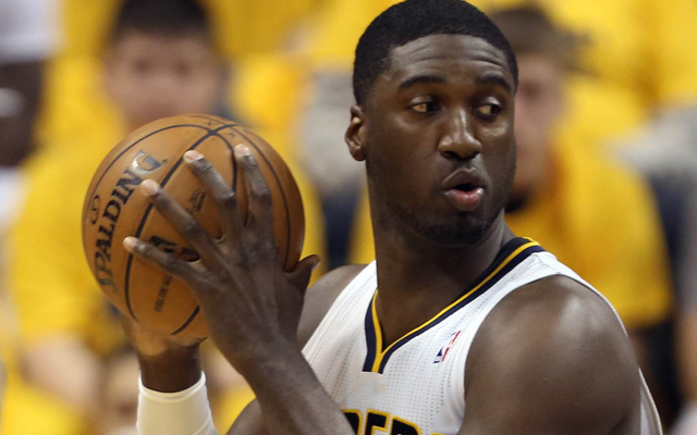 Roy Hibbert was fired up after Game 6.   (USATSI)