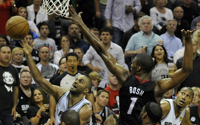Bosh's ability to defend multiple players at all times spurred the Heat. (USATSI)