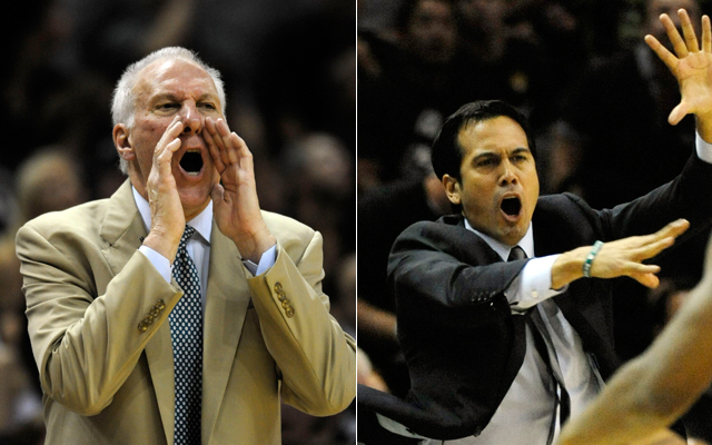 Erik Spoelstra and Gregg Popovich have cast magic in the Finals.   (USATSI)