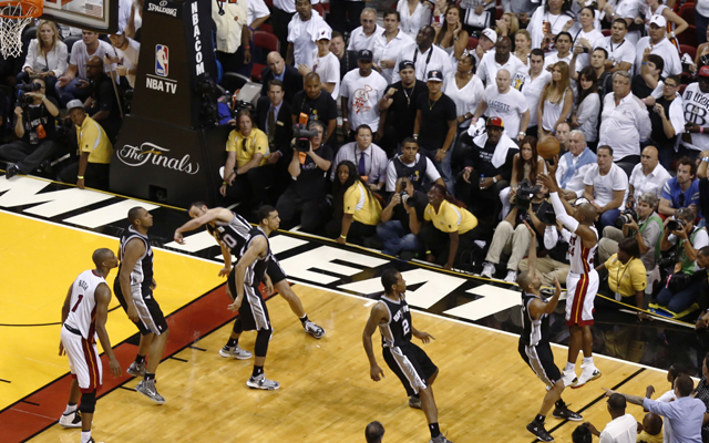 Allen's huge 3-pointer kept the Heat's season alive. (USATSI)