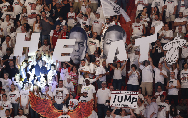 Heat fans get in cheap to minor league baseball game by degrading themselves.   (USATSI)