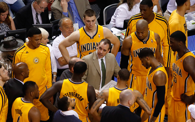 Frank Vogel and his Pacers aren't going away any time soon. (USATSI)