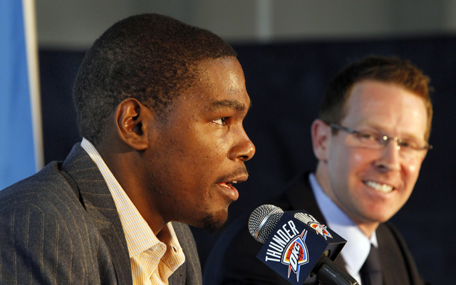 Thunder GM Sam Presti tops Goodman's rankings thanks to home runs like Kevin Durant. (Getty)